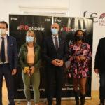 El Ayuntamiento de León se recibe a las deportistas Ana Peleteiro y Lydia Valentín